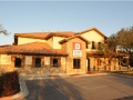 Southwestern tile roof installed on a commercial office