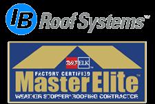 Logos: IB Roof Systems, GAF MasterElite