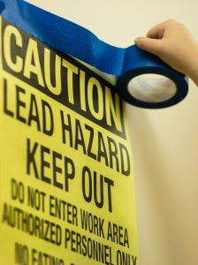 lead paint warning sign