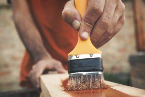 painting wood closeup