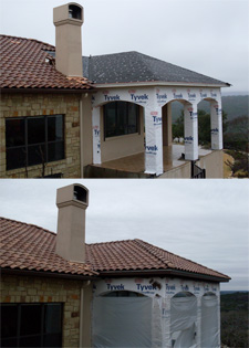Before and after pictures, Austin home remodeling contractors RoofCrafters