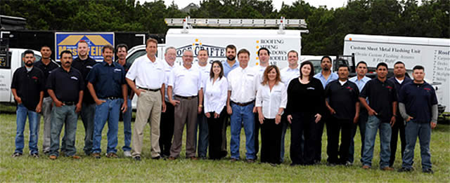The RoofCrafters team of skilled craftsmen and women